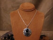 Sterling Silver Overlay Onyx Necklace
