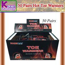 KASA 50 Hot Toe Warmers Pack Heat Feet Foot Sole Warmer Ski Snow