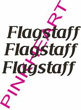 Flagstaff RV sticker decal graphics trailer camper rv made in the USA small