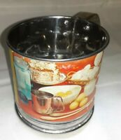 Vintage 70's Kitchen King Small Stainless Steel Sifter 1 Cup Capacity #901~ USA