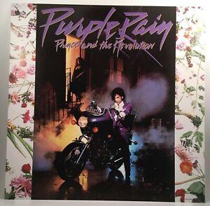 "PRINCE Purple Rain 1984 Warner Bros Records promo poster flat 12""X12"" Revolution"