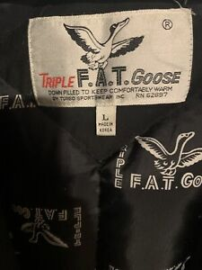 Vintage 1987-88 Triple Fat Goose down trench coat Large