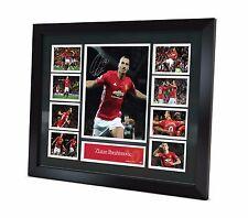 Zlatan Ibrahimovic Signed Manchester United Photo Poster Memorabilia FRAMED