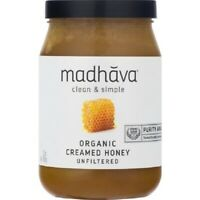 Madhava Organic Creamed Honey, 22 oz