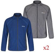 2 x Regatta Mons Mens Lightweight Full Zip Fleece OxfBlu + Lightsteel XXL