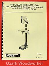 ROCKWELL 70-100 EFI-1 Geared Head Drilling Machine Manual 0609