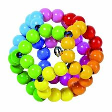 HEIMESS Elastik Regenbogenball 735670 Greifling Motorik Spielzeug Holz Baby NEU