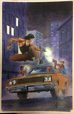 Val Mayerik Original Cover Art Bruce Lee #4 Malibu Comics - Fully Painted