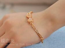 Fashion Women SHINY BOWKNOT BLING JEWELRY Pendant Bracelet Bangle Chain-UK stock