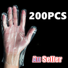 200 x Disposable Gloves Plastic Food Safe Catering Cleaning Home Kitchen Service