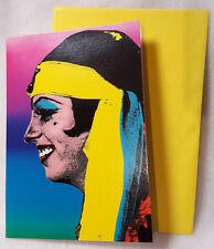 Vintage Greeting Card Liza Minelli Pop Art David Knopov Retro 70s Repro 90s