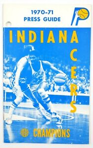 1970-71 ABA Indiana Pacers TV Radio Media Press Guide Program Yearbook