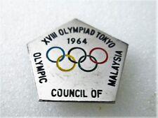 1964 TOKYO Olympics MALASYA NOC Pin Badge