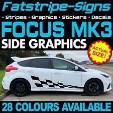 Ford Focus ST Calcomanías Gráficos MK3 Rayas Pegatinas RS 1.8 2.0 2.5 Turbo Aleaciones