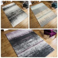 Modern Abstract Shadow Pattern Grey Pink Blue Rug Home Living Room Runner Carpet