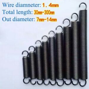 Extension Spring Tension Expansion Extending Springs Wire Dia 1.4mm Long 30-300m