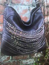 Custom Distressed Leather Studded Hobo