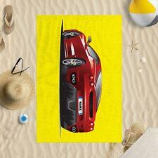 Personalizado Rojo Coche deportivo Toalla Microfibra Playa Sol Piscina Baño