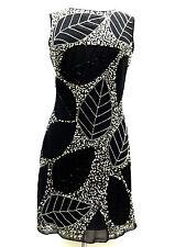BNWT Gatsby BLACK Dress Tunic Top Evening 1920's Shift Dress Size 8 10 12 14 16