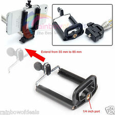 Universal Selfie Stick Tripod Monopod Mobile Mount Holder Bracket Camera Adapter