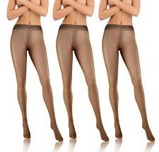 Strumpfhosen Damen Transparent 3er Pack Den 8 Glatte Feinstrumpfhose