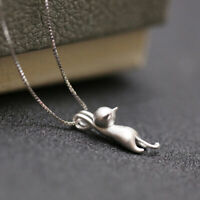 Fashion Lovely Cat Pendant Chain Necklace Choker Clavicle StatementJewelryGiPLUS