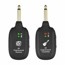 UHF 730MHz Guitar Wireless System Transmitter Receiver Rechargeable Battery