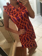 Tracy Negoshian Retro Mod Print Shift Dress Size L