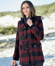 Damart checked coat size 12 red