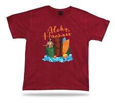 Aloha Hawaii vintage retro island sun funny festival unisex Tshirt style apparel