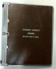 Antique The Royal Bank of Canada leather and steel current account ledger book