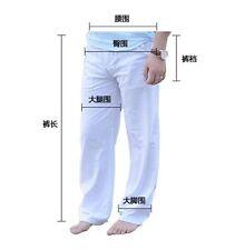 Mens Linen Loose Pants Beach Drawstring Yoga Casual Long Slacks Trousers XXL