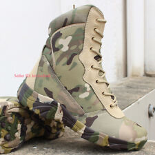 Men Waterproof Army Combat Boot Military Tactical Work Boot Hiking Outdoor Shoes