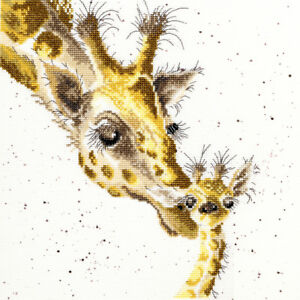 Bothy Threads ~ Counted Cross Stitch Kit ~ First Kiss ~ Giraffes ~ XHD3