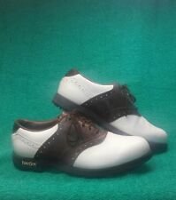 FootJoy Men's GreenJoys Golf Shoes White  Brown Saddle 45500 Size 9m