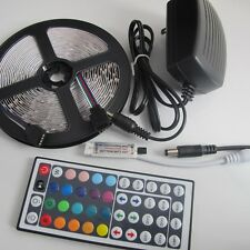 5M 3528 RGB LED Strip Light 300Leds + 44Key Remote Controller + 2A Power Supply