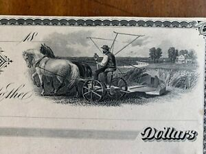 Minneapolis Minnesota City Bank American Bank Note Co NY 1880s proof farming