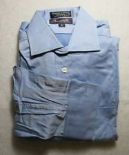 Faconnable Blue Cotton Dress Shirt French Cuff Pocket 15L 2