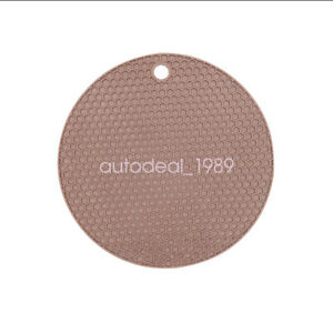 "2PCS 7"" Silicone Honeycomb Round Trivet Heat Resistant Potholder Mat Flexible"