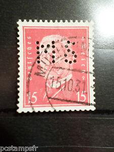 ALLEMAGNE EMPIRE GERMANY 1928-32, timbre perforé 405, oblitéré, PERFIN STAMP AC