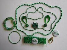 Lot of Green Irish St. Patrick's Day Inspired Jewelry
