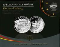 Deutschland 20 Euro 2020 Polierte Platte 900 Jahre Freiburg im Folder