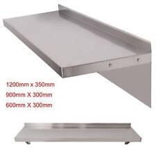 600/900/1200mm Stainless Steel Shelves Commercial Kitchen Room Wall Shelf 2Pcs