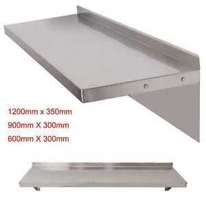600/900/1200mm Stainless Steel Shelves, Commercial Kitchen Clean Room Wall Shelf