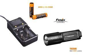 Fenix TK35UE Mod.2018 Taschenlampe + ARE-C1+ Ladegerät + 2 Fenix Akku´s 3500 mAh