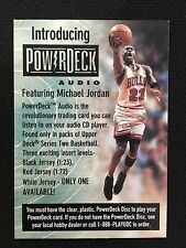 MICHAEL JORDAN ODD BALL POWERDECK AUDIO CHICAGO BULLS 1998 UD BASKETBALL CARD