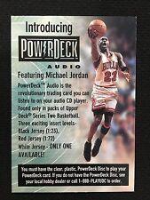 MICHAEL JORDAN ODD BALL POWERDECK AUDIO CHICAGO BULLS 1998 UD BASKETBALL CARD
