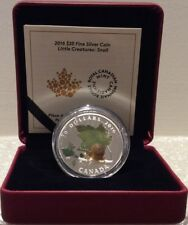 2016 Snail Venetian Murano Glass Little Creatures $20 Pure Silver Coin Canada