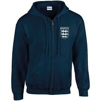 MANCHESTER UTD 3 LIONS CLUB AND COUNTRY SMALL CREST ZIP HOODIE MENS