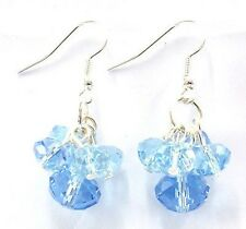 Blau Kristall Glas Tropfen Mode Ohrringe